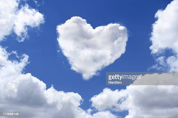heart shaped cloud - retouched image stock photos and pictures