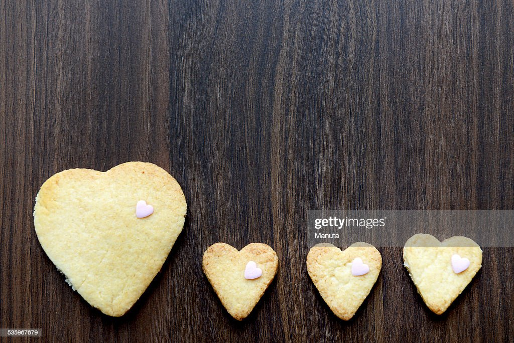 Heart Shaped Cookies : Stock Photo