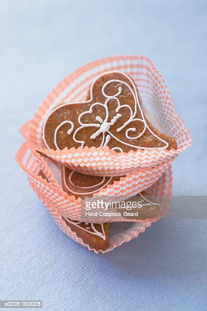 heart shaped cookies - heidi coppock beard stock-fotos und bilder