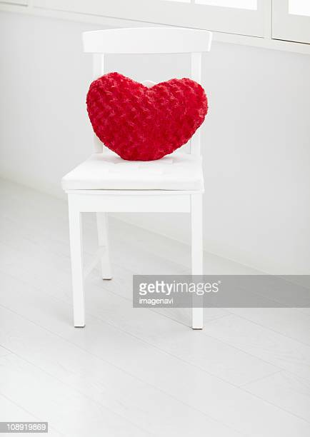 heart shaped cushion - cushion stock pictures, royalty-free photos & images