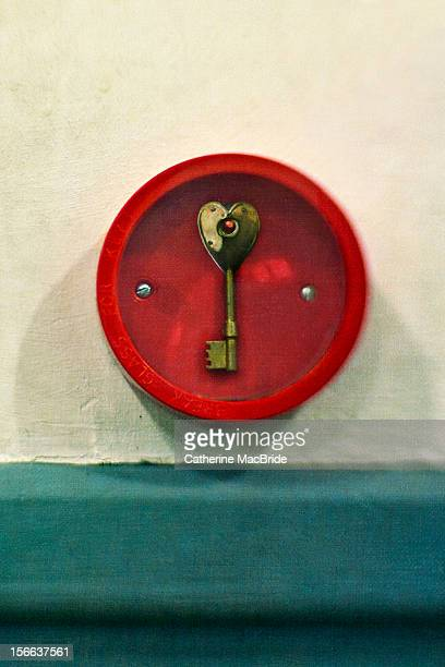 heart shaped emergency key - catherine macbride stock pictures, royalty-free photos & images