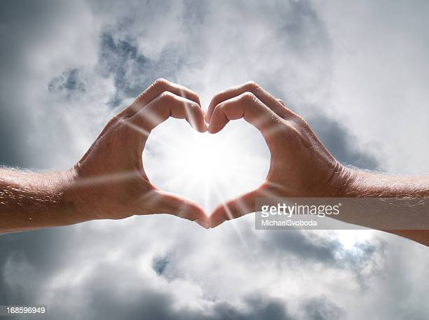 Heart Shaped Hands in the Sky