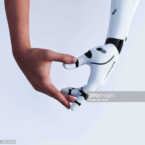heart shaped hands - artificial intelligence stock pictures, royalty-free photos & images