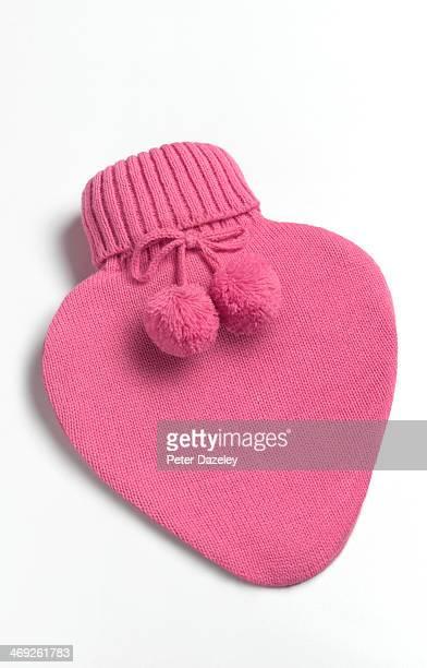 Heart shaped hot water bottle