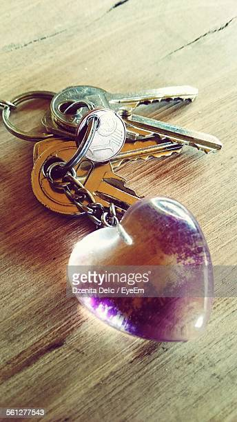 Heart Shaped Key Ring With Keys
