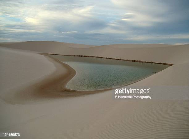 heart shaped lagoon - barreirinhas stock pictures, royalty-free photos & images
