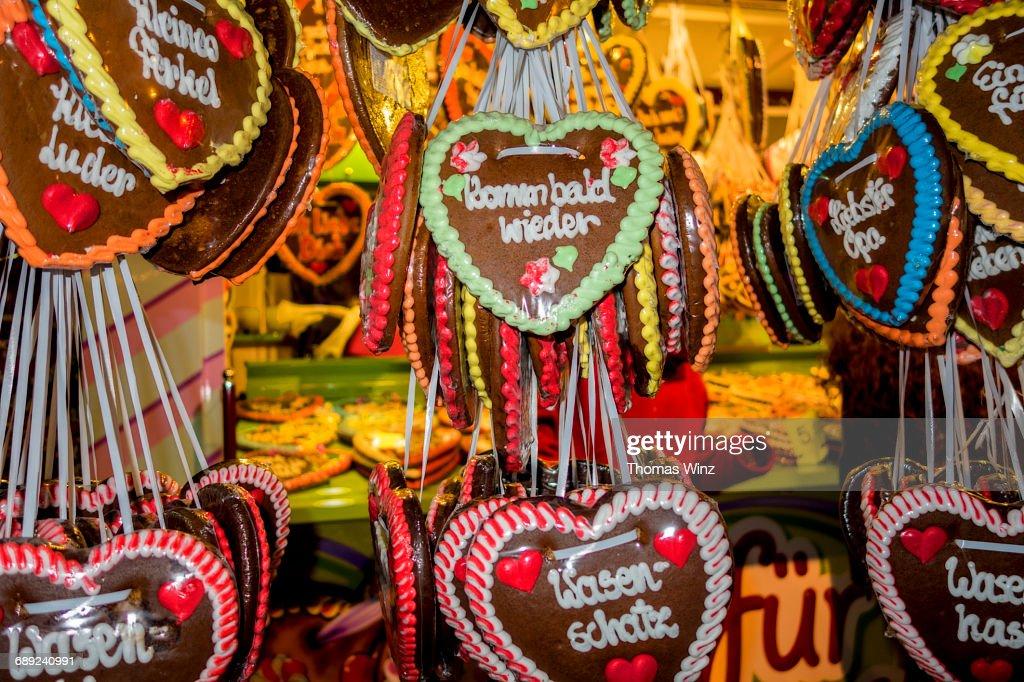 Heart shaped Lebkuchen ( Sweet Candy ) : Stock Photo