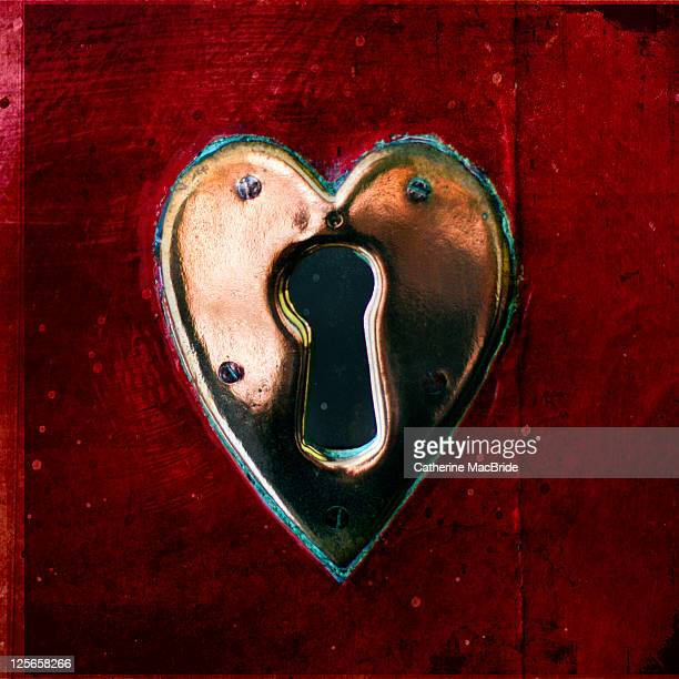 heart shaped lock - catherine macbride stock pictures, royalty-free photos & images