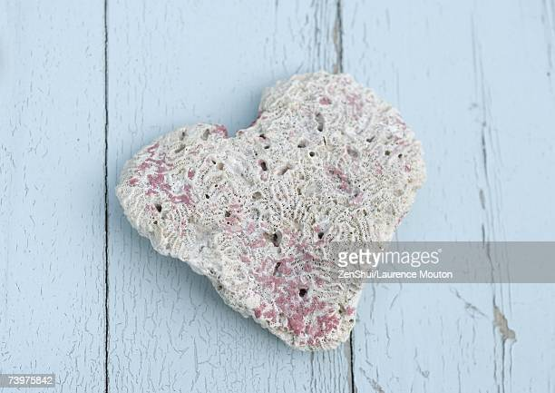 heart shaped piece of coral - pore stock pictures, royalty-free photos & images
