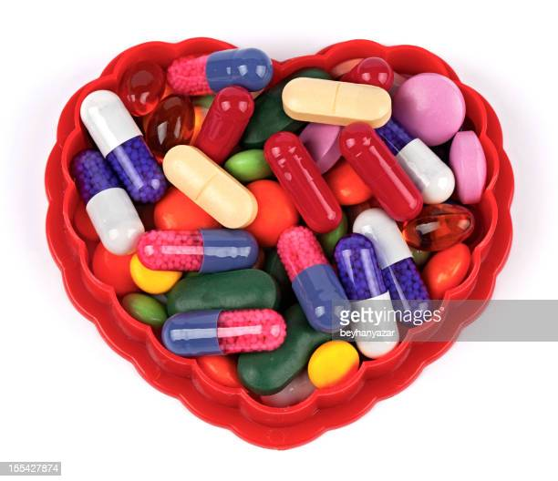 Heart shaped pills