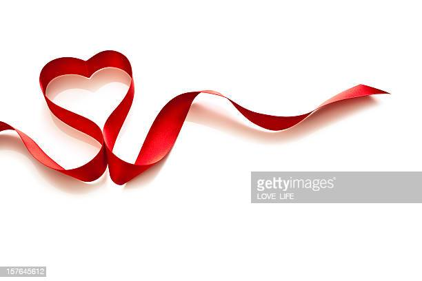 coração em forma de laço - símbolo do coração - fotografias e filmes do acervo