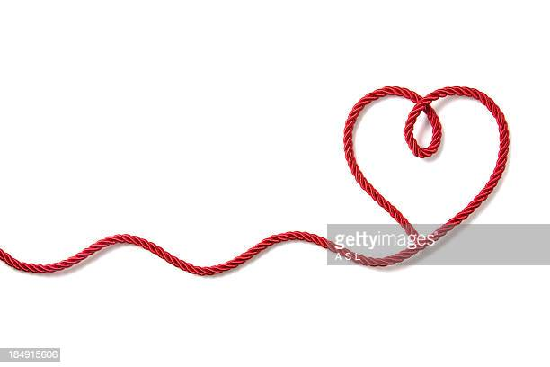heart shaped rope - string stock pictures, royalty-free photos & images