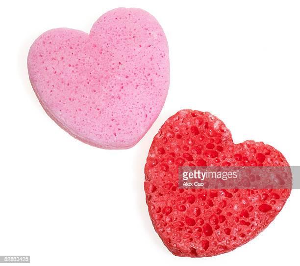 Heart shaped sponge