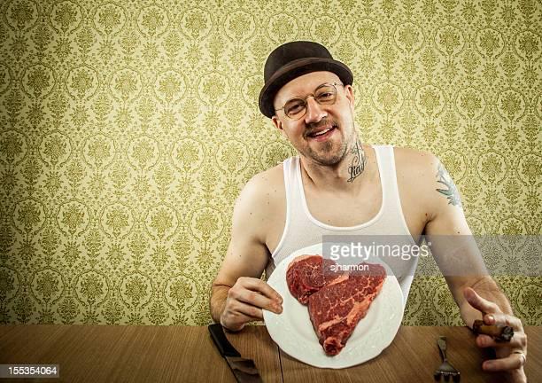 Herzförmiger Steak als Valentinstag Geschenk für den Mann