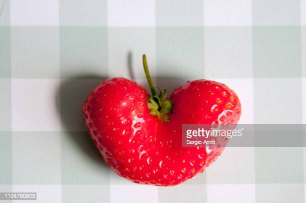 Heart shaped strawberry