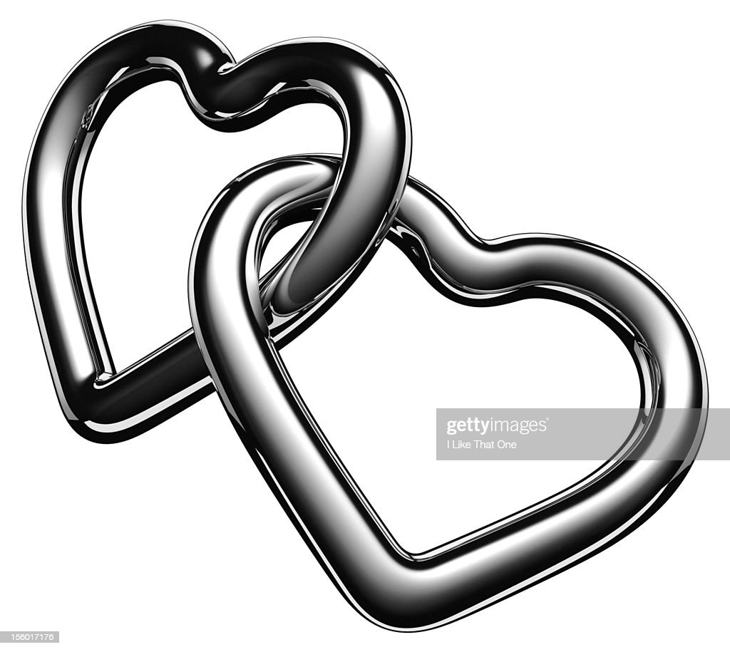 Heart Shaped Symbols Heart Symbols Linked Together Stock Photo