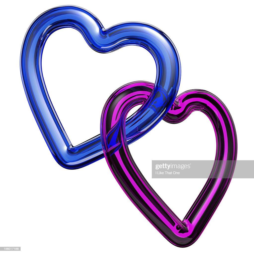 Heart shaped symbols heart symbols linked together stock photo similar images buycottarizona Choice Image