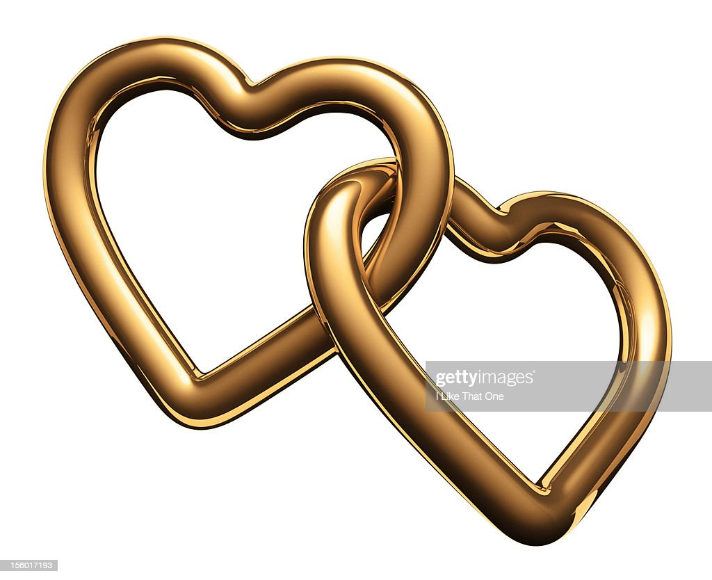 Heart Shaped Symbols Heart Symbols Linked Together Stock Photo