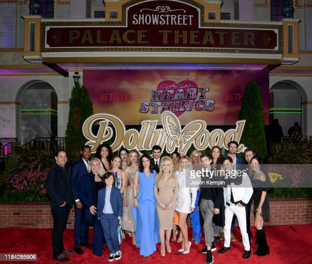 """Heart Strings cast attend the Netflix Premiere of Dolly Parton's """"Heartstrings"""" on October 29, 2019 in Pigeon Forge, Tennessee."""
