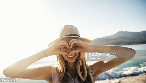i heart summer! - love emotion stock pictures, royalty-free photos & images