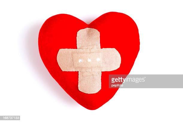 Heart  with Adhesive Bandage