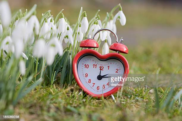 heartfelt spring - daylight saving time stock pictures, royalty-free photos & images
