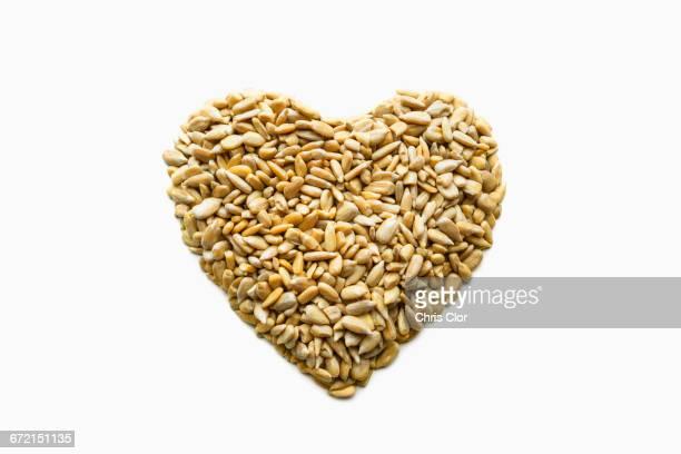 Heart-healthy seeds in heart-shape