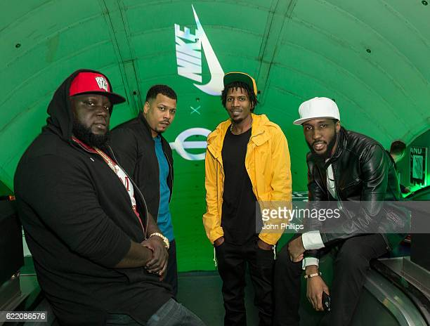 Heartless Crew attend NikeLab x Roundel launch at Charing Cross underground Station on November 9 2016 in London England