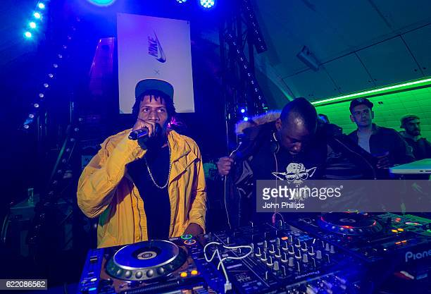 Heartless Crew Perform at the NikeLab x Roundel launch at Charing Cross underground Station on November 9 2016 in London England