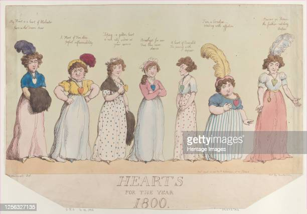 Hearts for the Year 1800, April 20, 1800. Artist Thomas Rowlandson.