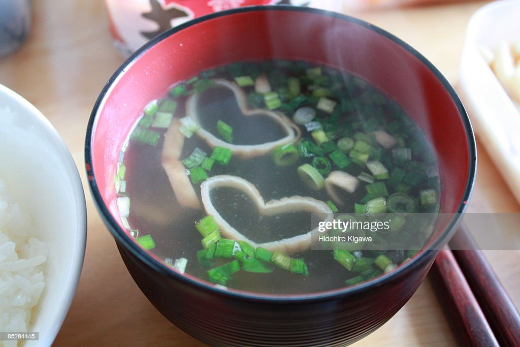 Hearts in The Soup : Stock Photo