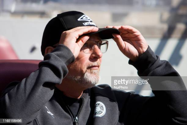 Hearts manager Craig Levein during the Scottish Premier League match between Hearts and Hamilton at Tynecastle park on 31 August 2019 in Edinburgh...
