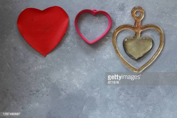 hearts stone background valentines day concept