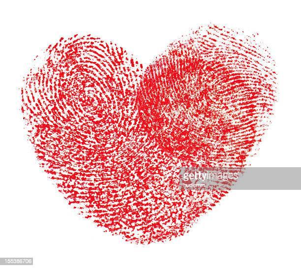Hearts shape fingerprint