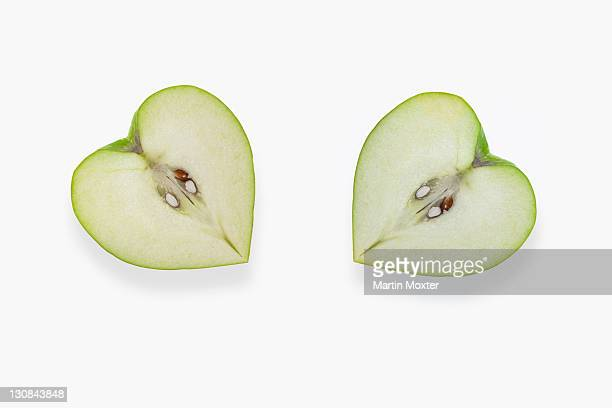 Heart-shaped apples