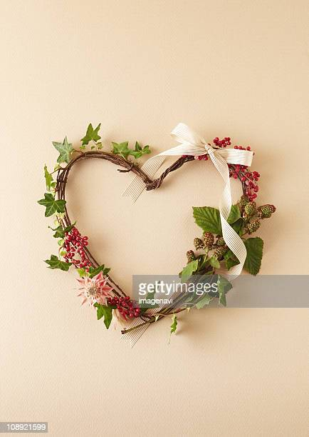 Heart-shaped Christmas wreath