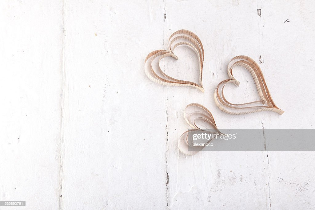 Heart-shaped cutout St Valentines hearts : Stock Photo