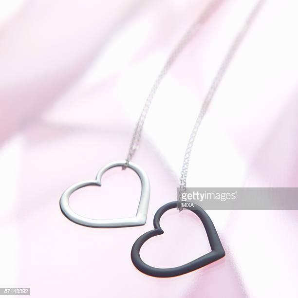 Heart-shaped pendants