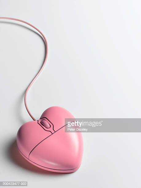 Heart-shaped pink mouse, close up