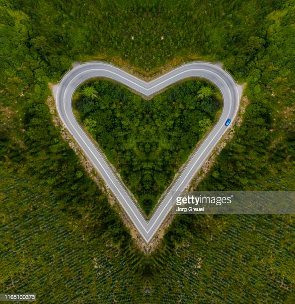 Heart-shaped road