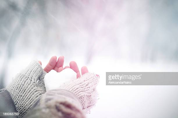 Herzförmige Schneeball