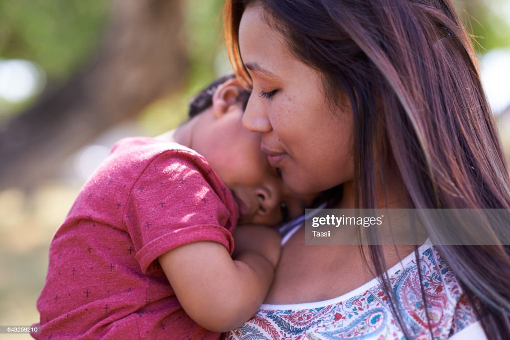 Heartwarming moments with Mom : Stock Photo