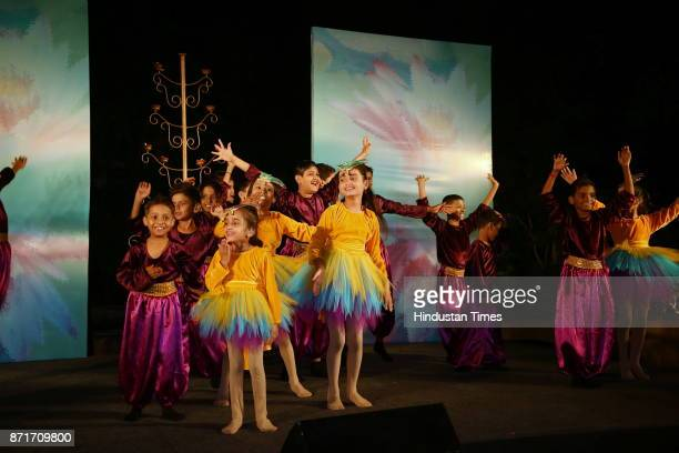 A heartwarming performance by the children of the trust during the fundraiser for Lepra India Trust at the residence of the British High Commissioner...