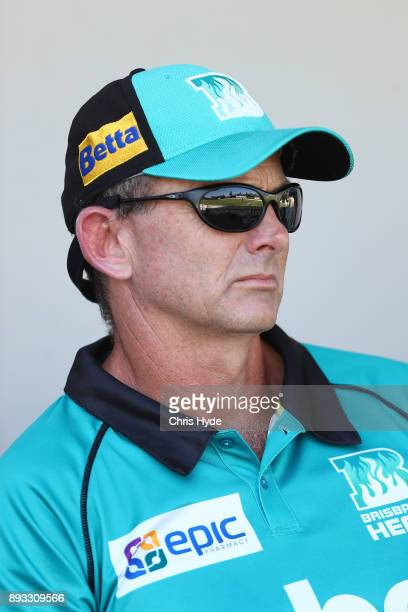 Heat coach Peter McGiffin looks on during the Women's Big Bash League match between the Brisbane Heat and the Perth Scorchers at Allan Border Field...