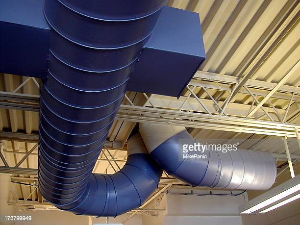 heat ducting - royal blue stock pictures, royalty-free photos & images