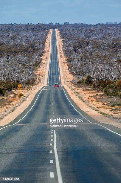Heat haze mirage Eyre Highway