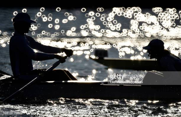 A heat of a ladies race during the Henley Royal Regatta on The River Thames on July 6 2018 in Henley England