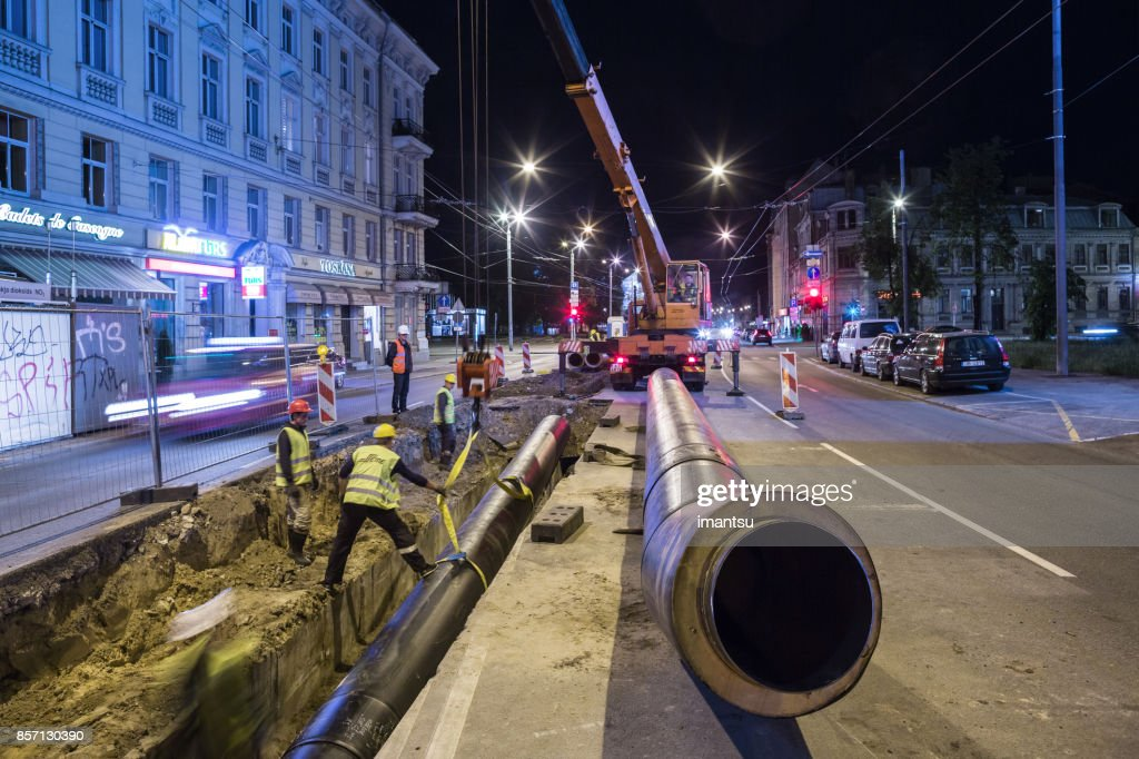 Heat pipe replacement works : Stock Photo