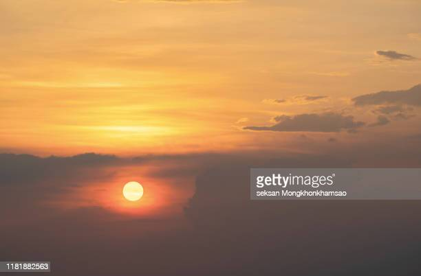 heat wave of extreme sun and sky background. hot weather with global warming concept. temperature of summer season. - el nino stock pictures, royalty-free photos & images