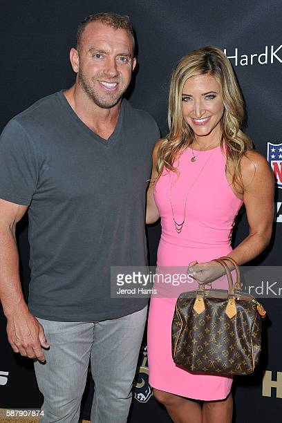 Heath Evans and Cynthia Frelund arrive at the Premiere of HBO and NFL Films 'Hard Knocks Training Camp With The Los Angeles Rams' at Regal LA Live...